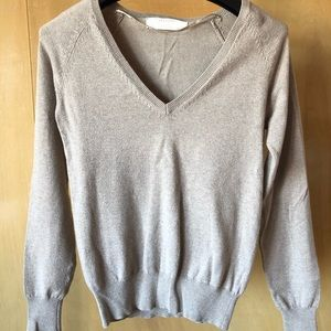 Zara Knit Tan V-Neck Sweater